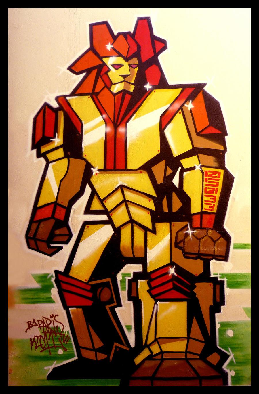 Graffiti - Lion Robot 1 by CanteRvaniA