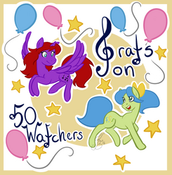 Grats on 50 watchers! by Colour-Curious