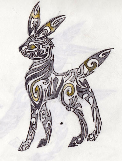 Umbreon Tribal Tattoo by Skrayle on DeviantArt