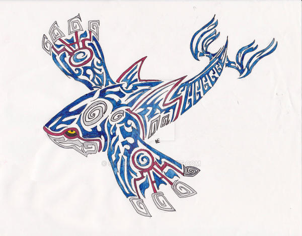 Kyogre Tribal Tattoo 1 by Skrayle