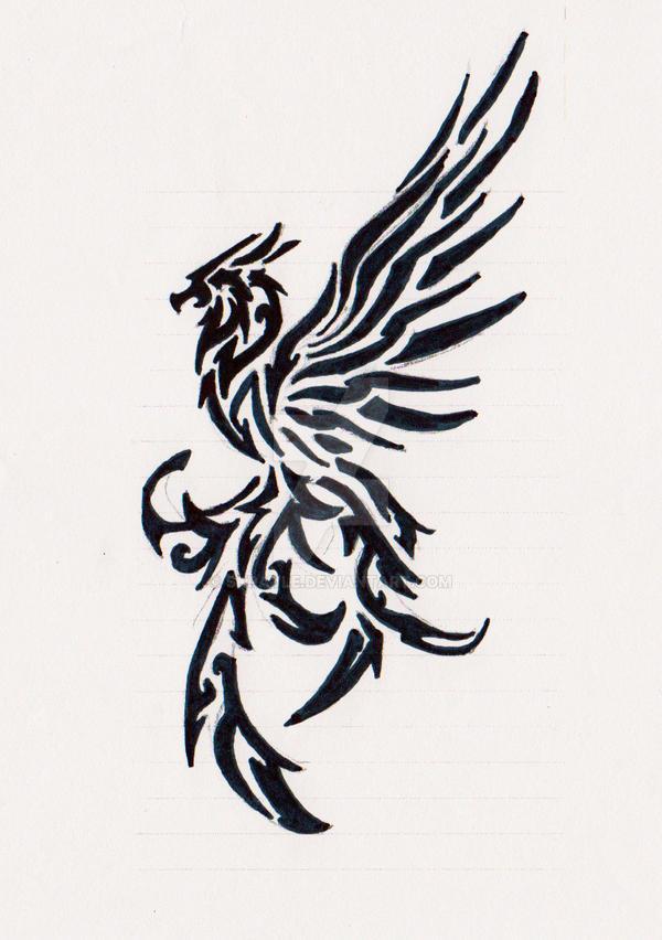 really old bird tribal tattoo by skrayle on deviantart. Black Bedroom Furniture Sets. Home Design Ideas