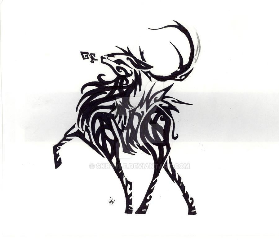 Tribal Scorpion By White Tigress 12158 On Deviantart: Stag Tribal By Skrayle On DeviantArt