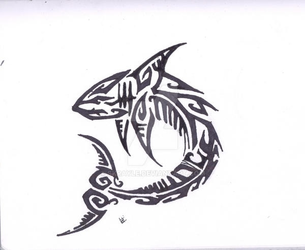 Shark Tribal by Skrayle