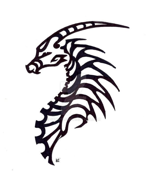 Simple dragon tribal b...