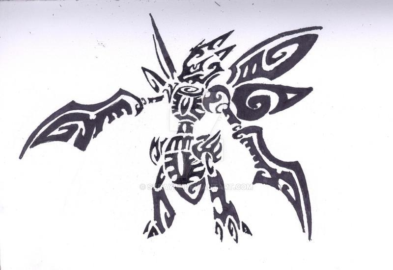 scyther tribal tattoo by skrayle on deviantart. Black Bedroom Furniture Sets. Home Design Ideas