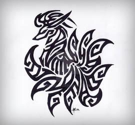 Ninetails Tribal Tattoo [Remix]