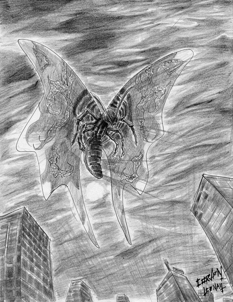 Mothra by CorvenIcenail