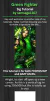 Green fighter sig tutorial