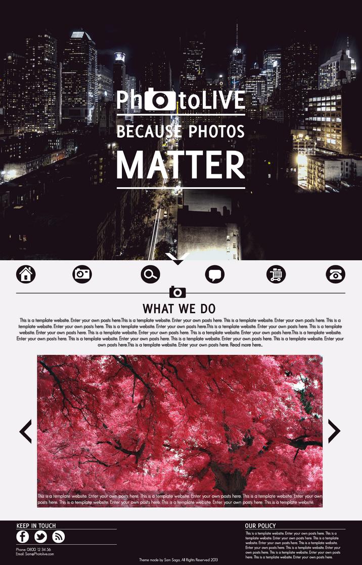 PhotoLIVE webdesign by samsaga1307