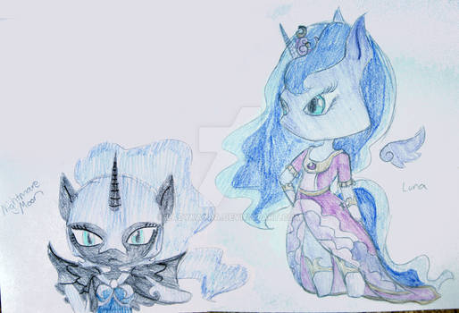 Chibi Luna and Nightmare Moon