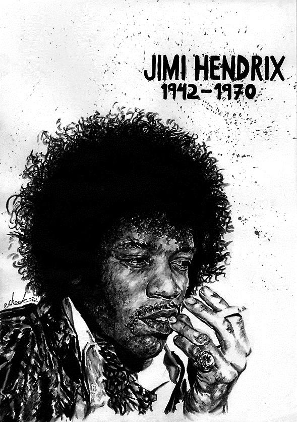 Jimi Hendrix by the-ChooK