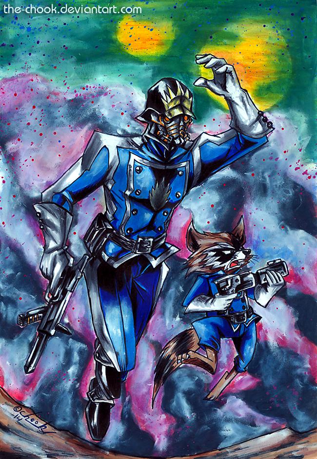 Star Lord And Rocket Raccoon By Timothygreenii On Deviantart: Star Lord And Rocket By The-ChooK On DeviantArt