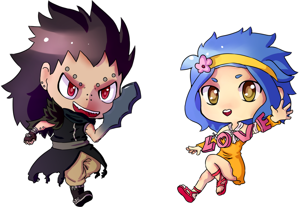 Gajeel and Levy by ThaIssing on DeviantArt