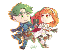 Alm and Celica by ThaIssing