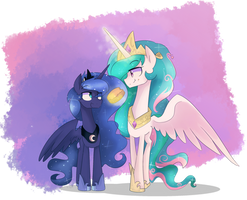 Celestia and Luna by jankrys00