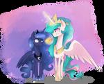 Celestia and Luna by jankrys00