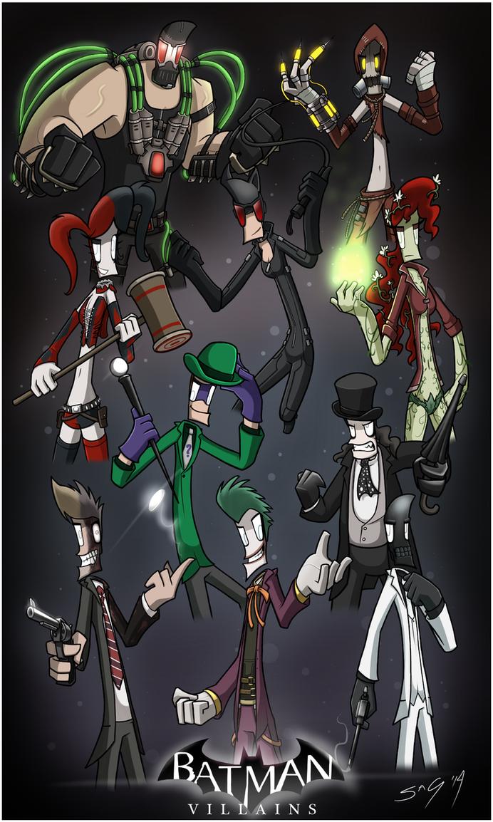 Batman Villains by NotYourSagittarius