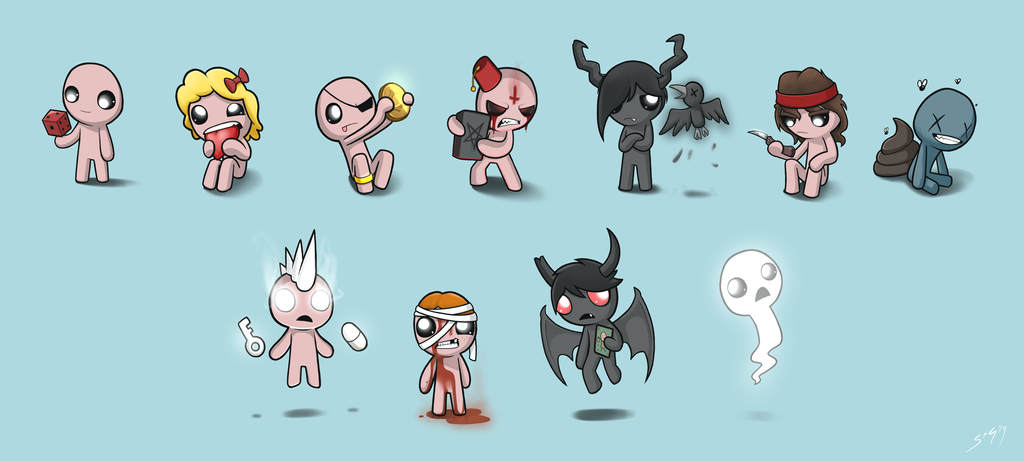Isaac and the Gang by NotYourSagittarius