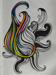 Swirly...needs a bit more color. by twila