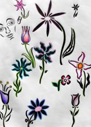 Flowerdoodles by twila