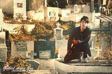 Cemetery boy by geobertson