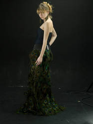 peacock dress by princessserenety