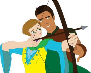 Archery Lesson by AJKutabear