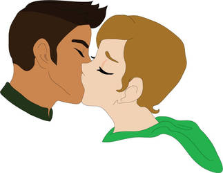The Kiss by AJKutabear