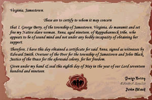 Manumission Certificate Ayiana by SolPicador