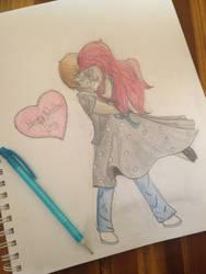 Valentine Twirls by Rebeccafairy