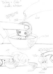 Bathing a Chibi by Threshie