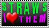 Straw Love Stamp by Threshie