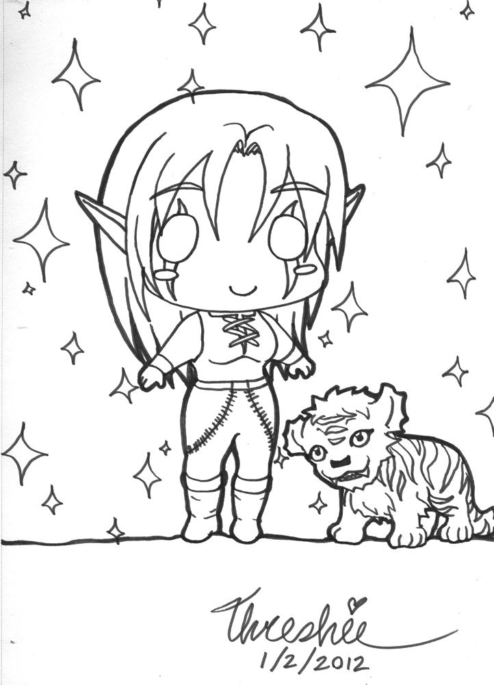 Dot Night Elf and Winterspring Cub by Threshie on DeviantArt  Winterspring