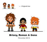 Pixel SR 01 - Briony, Roman and Geno