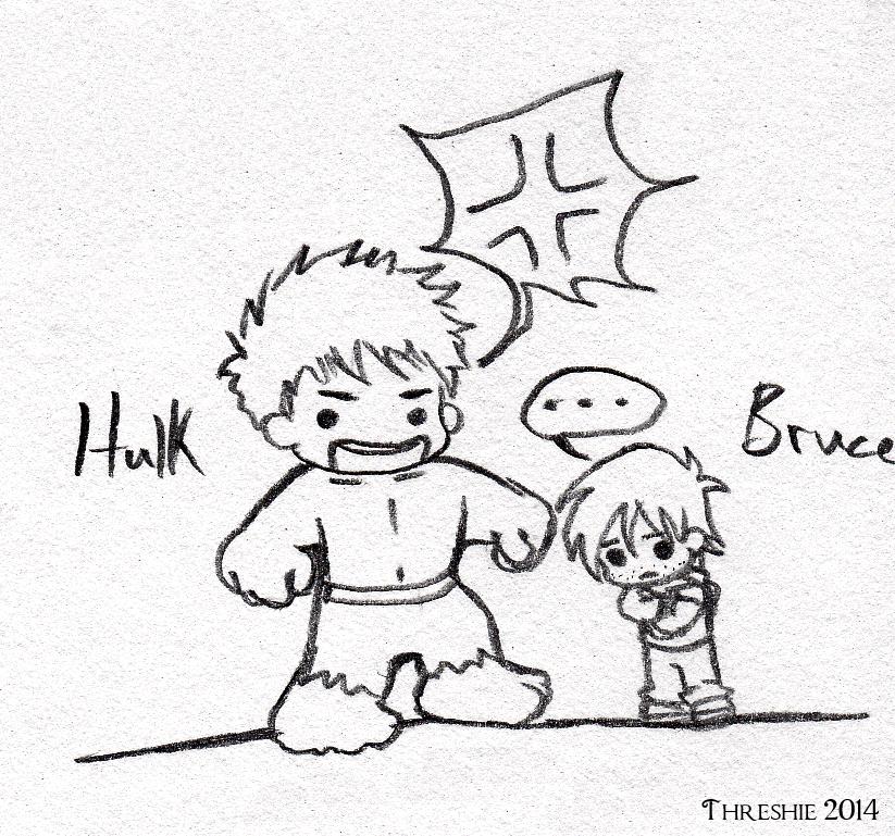 Chibi Hulk Cute Hulk And Bruce Dot Chibis by