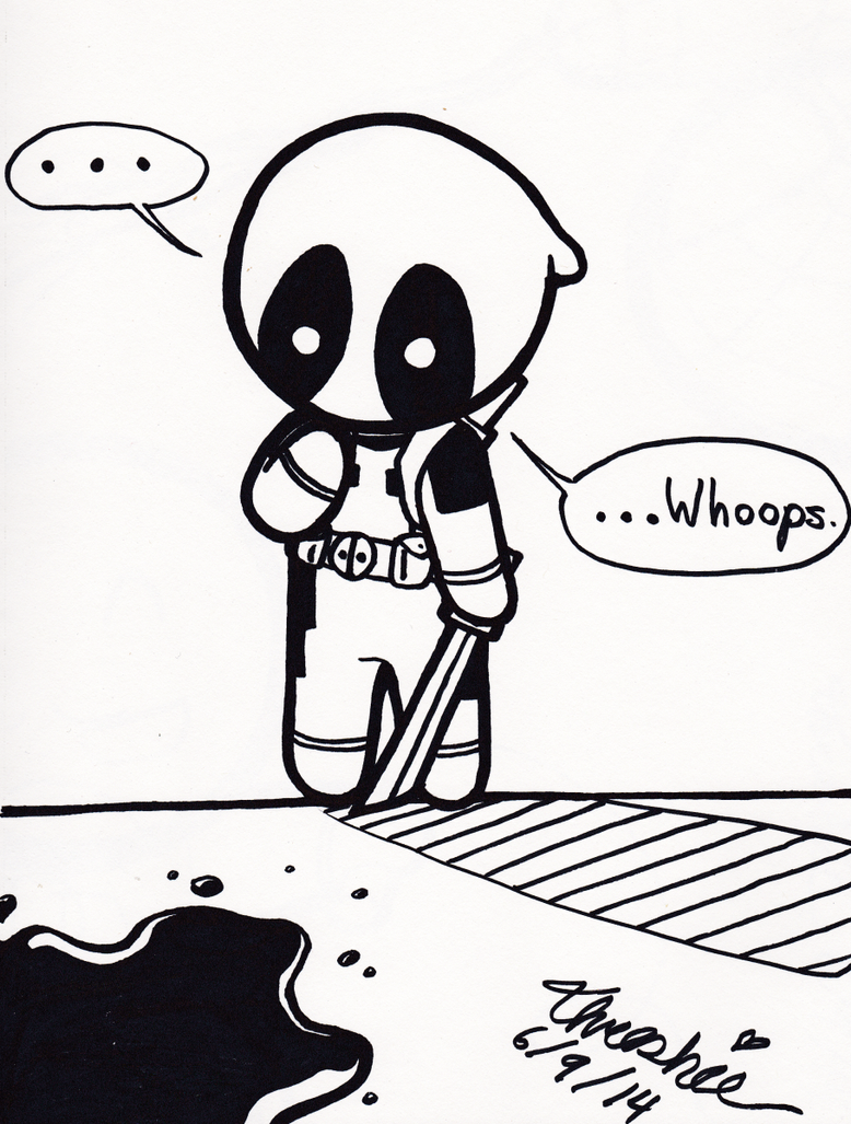 Deadpool - Whoops by Threshie