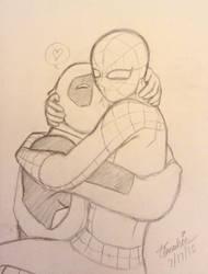 Spideypool - Cuddles
