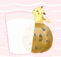 Pikachu Got Cookie by MokonaTenshi