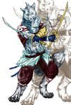 Dual sword wolf by riard