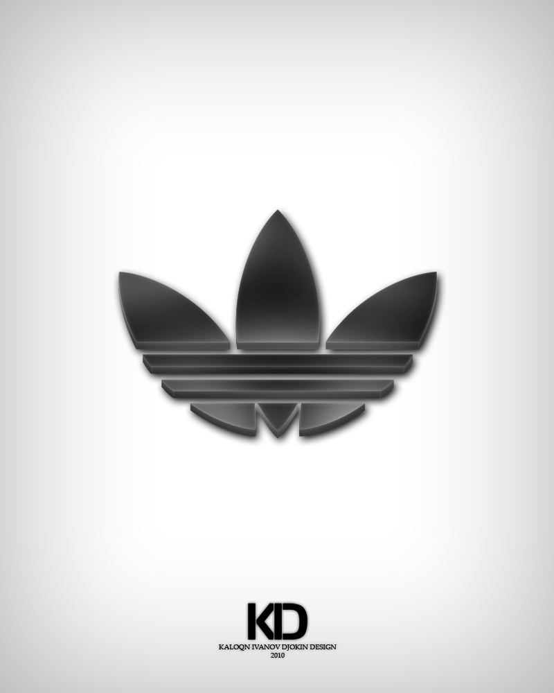 adidas logo 3d
