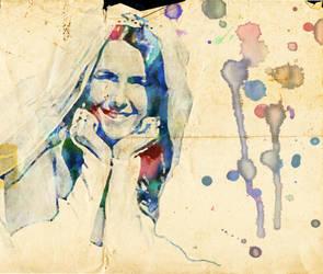 Paint Splattered Bride by jwcoffeeman