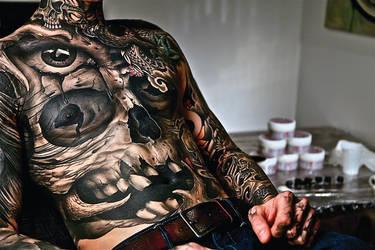 Skull Tattoo by TattooSoulcom