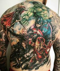 Marvel Tattoo by TattooSoulcom