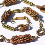Bronze Guitar String Necklace by Tanith-Rohe