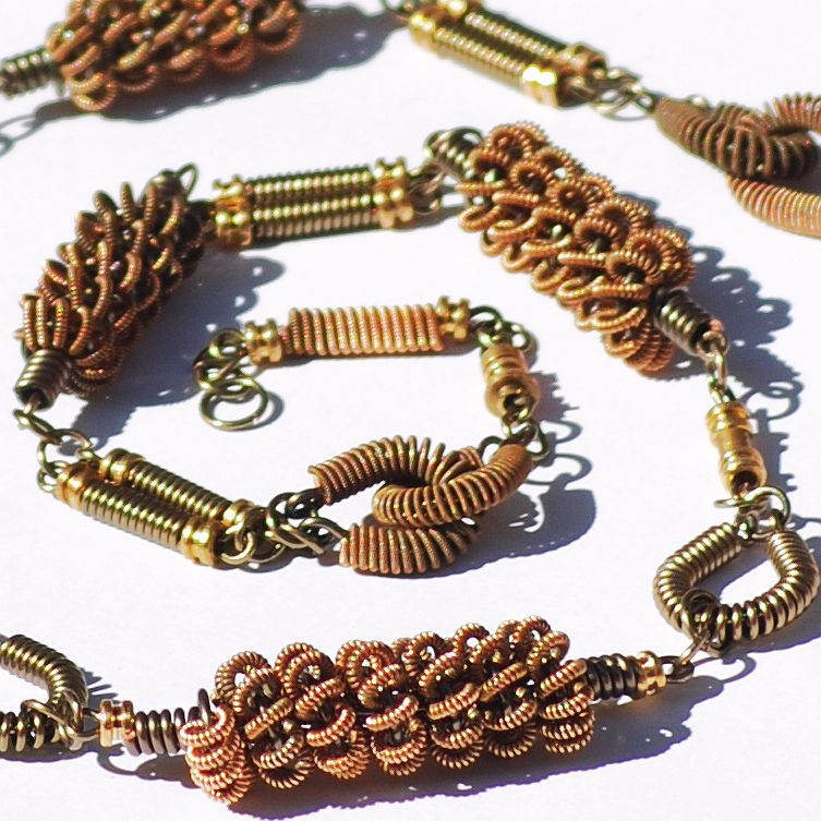 Bronze Guitar String Necklace