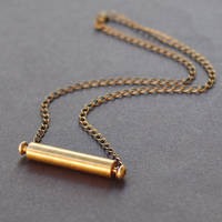 Found Object Brass Necklace by Tanith-Rohe