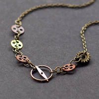 Steampunk Small Gear Choker by Tanith-Rohe