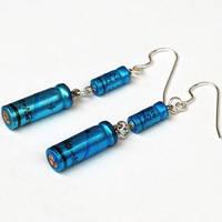 Resistor Jewelry Blue Earrings by Tanith-Rohe
