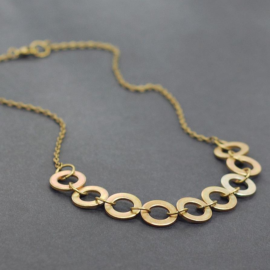 Hardware jewelry brass washer necklace by tanith rohe on deviantart hardware jewelry brass washer necklace by tanith rohe aloadofball Images