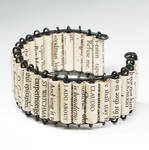 Paper Bead Jewelry- Shakespeare Cuff Bracelet